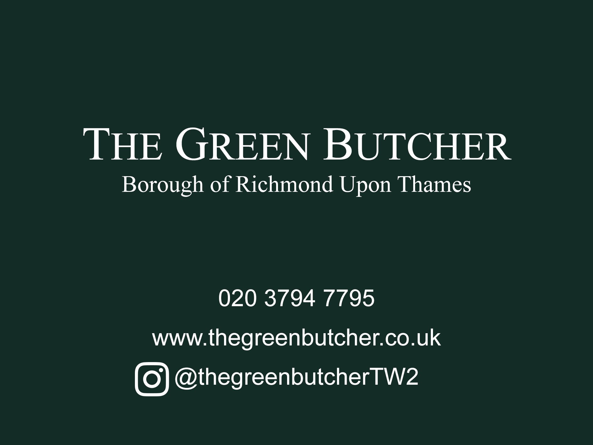 The Green Butcher